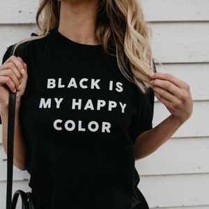 Tops - ♡ Boutique Black Is My Happy Color T-Shirt